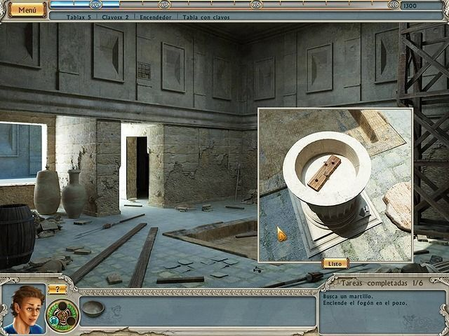 Alabama Smith In Escape From Pompeii en Español game